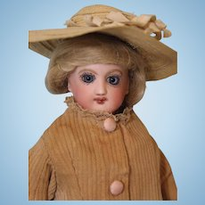10 inch Jumeau Child Fashion Doll Size 1 Gusseted body Closed/Mouth Paperweight eyes