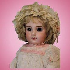 "Antique 16"" E 6 J Emile Jumeau Bisque Bebe Cabinet Size Boo Boo Bargain c.1890"