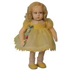 10 inch Lenci Doll Pristine Condition 360/70 Nice organdy dress with collar Correct