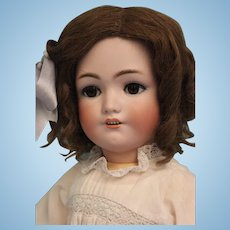 24.5 inch Antique Doll Jutta Bisque Simon Halbig 1348 Bisque Child Doll circa 1910