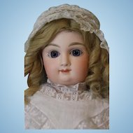 21 inch French Bisque Mystery doll Jumeau Straight wrist Body Bebe Mascotte By May F