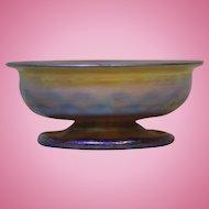2.5 inch American Tiffany Studios Favrile Iridescent Gold Art Glass Bowl c.1910