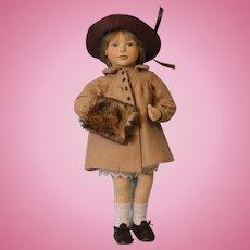 """15 inch 1990 Maggie Iacono """"Elizabeth"""" Felt Doll Limited Edition 151/250 Maggie Made"""