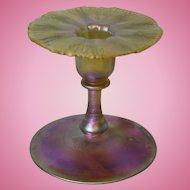 Circa 1900 4 inch Tiffany Studios Art Nouveau Iridescent Gold Favrile Candlestick!!