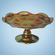 2.75 inch American Tiffany Studios Art Nouveau Iridescent Favrile Glass Compote 1892