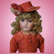 16 inch Antique French Portrait Fashion Tete Jumeau Doll Size 5  Swivel Neck Bisque