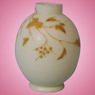 "5.5"" c.1890 Antique English Victorian Thomas Webb Cameo Fishscale Bulb Vase!!!"