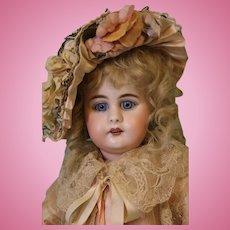 Antique 17.5 Inch 949 Simon & Halbig Doll Pretty Blue Glass Sleep Original Body