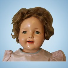 19 inch Composition shoulder head doll  By K & K Toy Company INC, no crazing