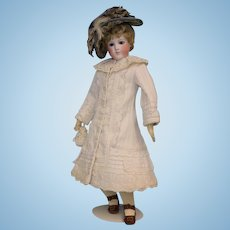 RARE FACE! 16 inch Antique French Fashion Doll by Barrios with 'Chantilly Face' circa 1870's