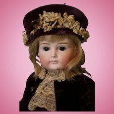 "Antique 16"" XI Kestner German Bisque Doll Closed Mouth brown Sleep Eyes c.1900"