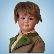 Antique 12 inch German Bisque Armand Marseille Character 550 Doll circa 1920s, Great Face!