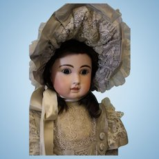 Antique HUGE RARE SIZE 37 inch Steiner Figure A 21 Doll French Bisque  circa 1885