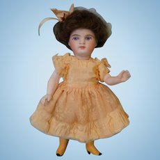 Antique 5.5  inch All bisque 208 Kestner Doll Yellow boot,Swivel head, Fully Jointed