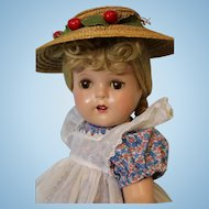 16 inch Madame Alexander Composition McGuffey Ana Doll Tagged Dress and Clean