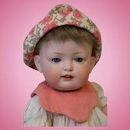 Antique 11 inch Bahr & Proschild German Bisque Baby Doll 604 well dressed Clean !!