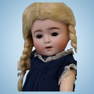 8 inch Franz Schmidt Toddler Doll 1925 brown glass sleep eyes O/M w/teeth