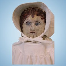 Antique 21 inch American Handmade Primitive Cloth Doll circa 1890 Clean Clean