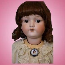 31 Inch Antique Armand Marseille 390 German Bisque Big Girl Doll c.1900