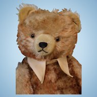 22 Inch Antique Hermann 1930s Teddy Bear Brown tipped blond mohair Germany
