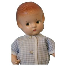 9 inch Patsyette w. molded hair in blue cotton outfit clean from a non-smoking envir