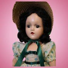 17 inch Madame Alexander Scarlett O'hara compo. no crazing Original Tagged Dress
