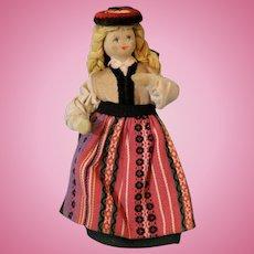 Vintage 6.5 Inch Charlotte Weibell Doll Sweden, 1970s