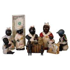 Lot of Vintage Black Americana Figurines Deep South Souvenirs Aunt Jemima