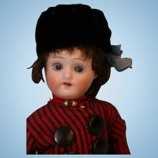 8.5 inch Antique Herm Steiner German Bisque Doll Orig Dutch costume c.1910