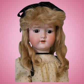 "Antique 29"" Armand Marseille 390 German Bisque Doll Marked Body"