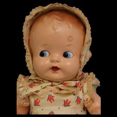 11 inch Ideal hard plastic jointed baby side glancing eyes factory original clothes