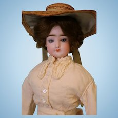 15 inch French Fashion Doll FG in Scroll, Antique Fashion dress, No Damage or Repair