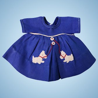 Original Ideal Shirley Temple Doll Dress with Scottie Dogs Our Little Girl 1935