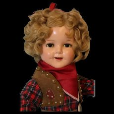 18 inch Ideal Composition Shirley Temple Doll in Texas Ranger Costume Excellent!