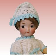 Antique 7 inch Kestner #189 Googly Doll Watermelon Smile Side Glancing Eyes c.1910