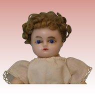 8.5 inch Antique German Taufling Wax Doll Socket head Jtd compo body Squeak torso