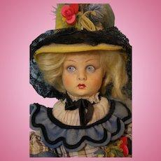 15 Inch Lenci Doll in Original Costume Lucia Face 1930s Cloth Doll