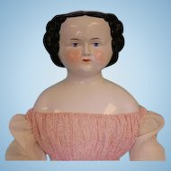 Giant 35 Inch Antique China Head Kister Boo Boo Bargain Large Size Flat Top