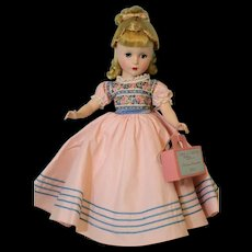 Pristine 14 Inch Madame Alexander Little Women Amy Hard Plastic Doll with Tags
