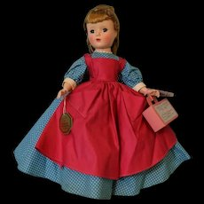 Pristine 14 Inch Madame Alexander Little Women Meg Hard Plastic Doll with Tags
