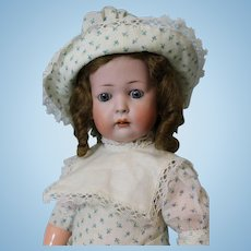 """18"""" antique KW 1070 German bisque character doll Ball jtd slant hip toddler body"""