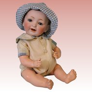 """11"""" Antique Kestner JDK 211 'Sammy' Character Skin Wig German Bisque Baby Doll"""