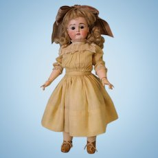 19 Inch Antique Kestner XI Character Square Teeth German Bisque Doll circa 1900