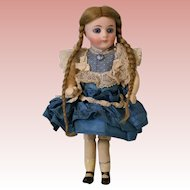 Antique 6 Inch Bisque Sonnenberg German Bisque Doll with Closed Mouth Great Size!