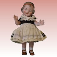 Antique 5 Inch All Bisque Gebruder Heubach Coquette German Character Doll