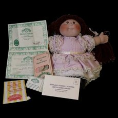 Vintage Bisque head Cabbage Patch Doll with Birth Certificate Signed Xavier Roberts