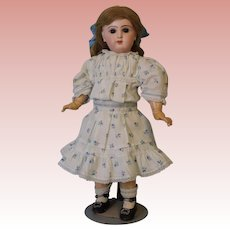 """Antique 18"""" French Bisque Closed Mouth Tete Jumeau Adorable Dressed Circa 1890"""