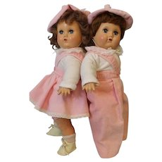 15 Inch American Character Brother & Sister Hard Plastic Head Compo Hands & legs