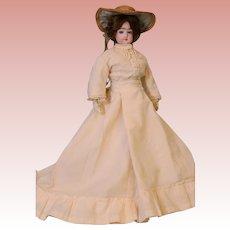 "15"" French Fashion Doll FG in Scroll, Antique Fashion dress, No Damage or Repair"