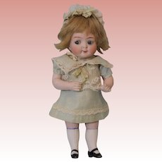 "Large 7.5"" Antique Doll All Bisque Googly 218 Watermelon Mouth Hertel and Schwab"